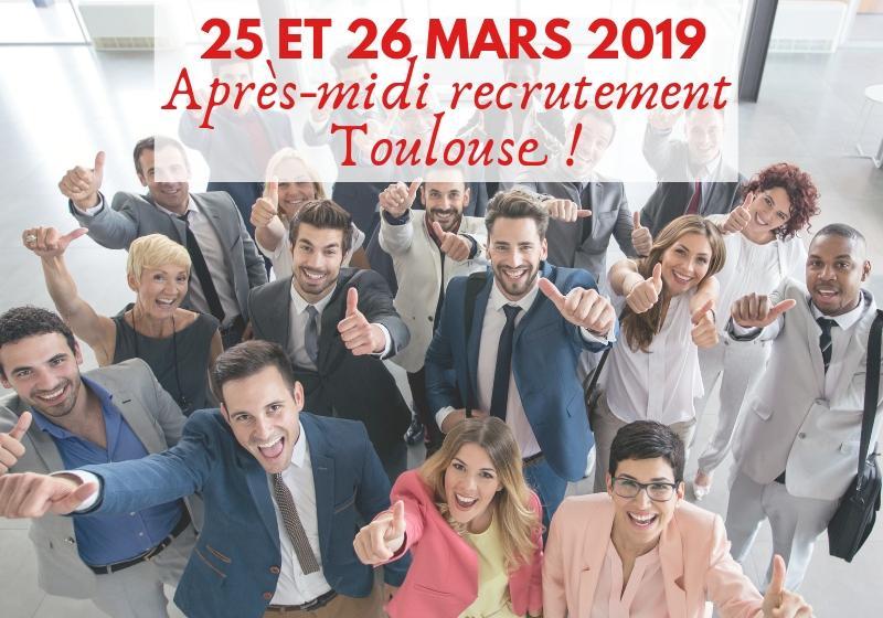 recrutement négociateur 25 26 mars Toulouse