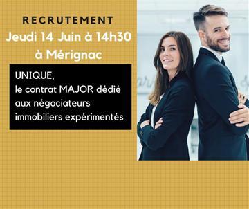 Recrutement CONTRAT MAJOR Bordeaux le 14/06/2018