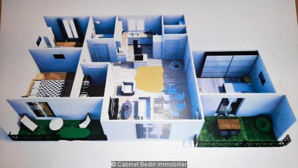 Vente Appartement T4 Bruges 3 chambres