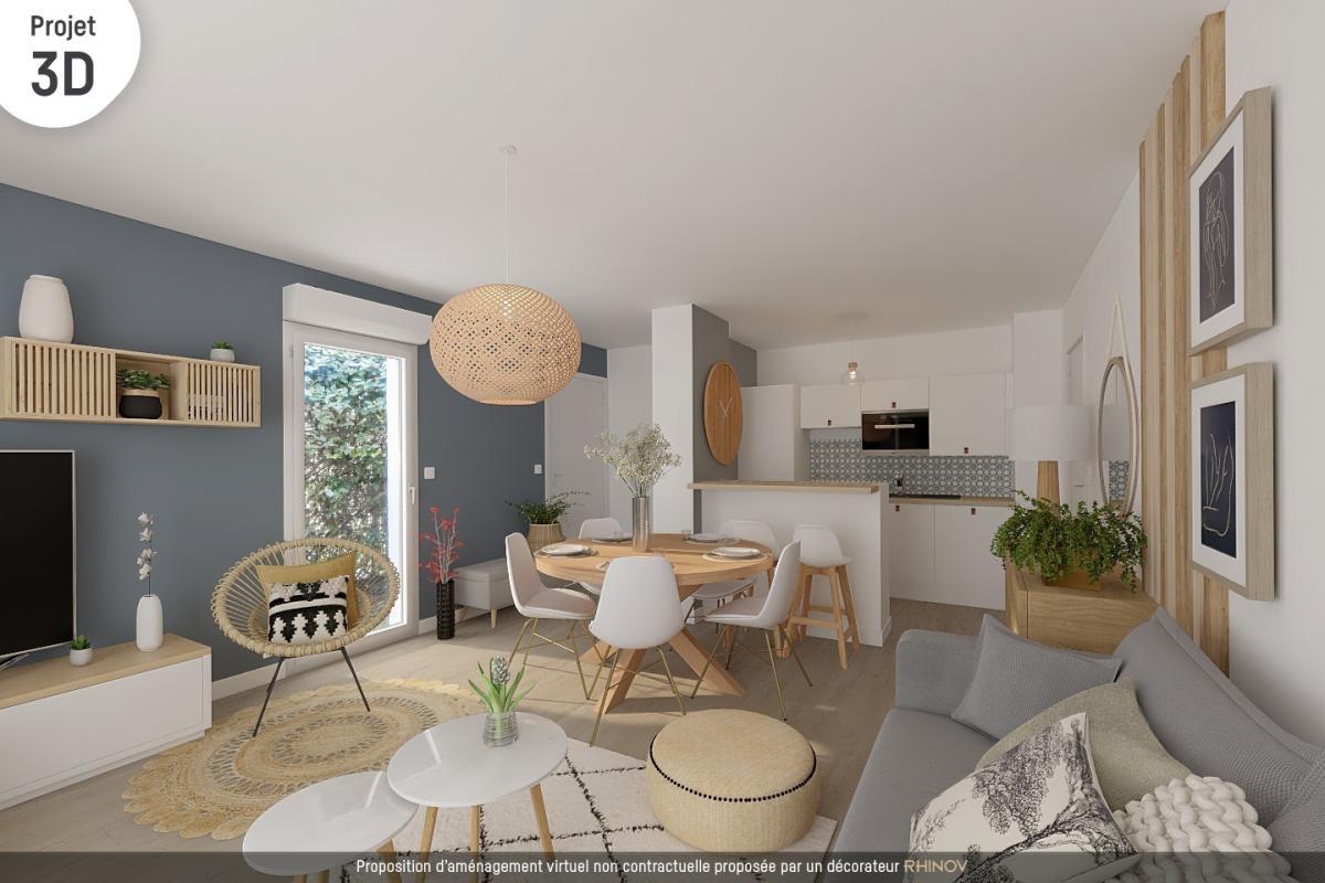 Achat appartement 3 pieces artigues pres bordeaux 2 chambres