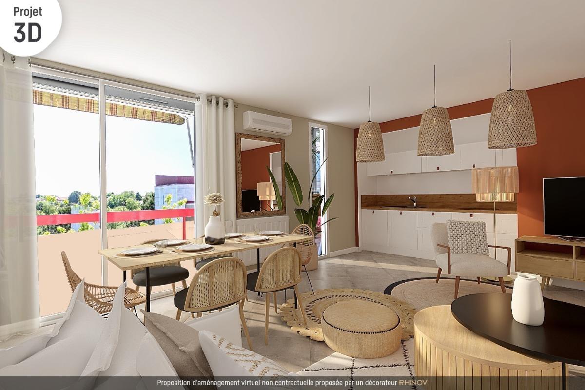 Vente appartement t3 cenon 2 chambres